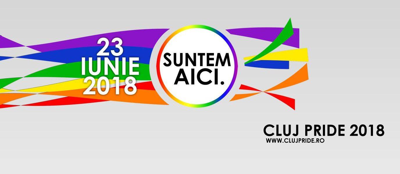 Cluj Pride 2018 Suntem aici poster