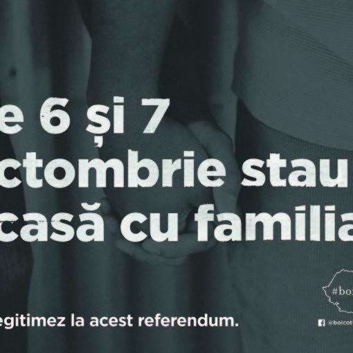 Poster #boicot boicot referndum pentru familie